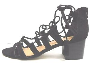 Madden Girl Size 7.5 Black Sandals Heels New Womens Shoes