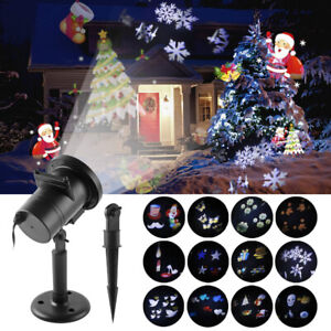 LED Laser Projector Light Christmas Landscape Spotlight Lamp Party Decor Outdoor