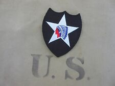 "Us Army 2nd Infantry Division reserved ""Indian Head"" Patch vietnam WWII wk2"