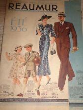 SUPERBE CATALOGUE REAUMUR , MODE , VINTAGE, FEMME ENFANT année 1936 ( ref 64 )