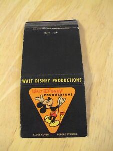 "VTG Matchbook~""WALT DISNEY PRODUCTIONS"" Mickey Mouse~"