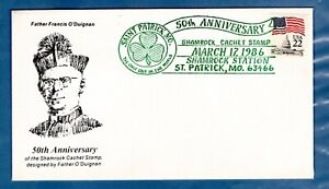 1986 St. Patrick's Day Pictorial cancels - St Patrick, MO.  Cover and insert