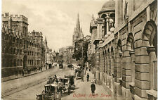 F. FRITH & CO. LTD REIGATE ENGLAND POSTCARD 1910 PERIOD OXFORD HIGH STREET