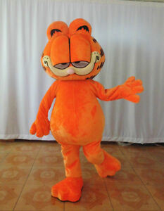 Cartoon Cat Mascot Costume Parade Suits Dress Adult Halloween Cosplay Outfit New