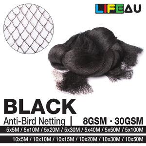 BLACK Anti Bird Netting Commercial Pest Net 5M, 10M Wide 5M - 100M