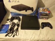 PS4, Playstation 4 Slim 1TB(CUH-2216B)mit 10 Ps4 Spiele und 2 Controller + OVP