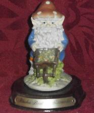 NAIN JARDINIER GNOME ELFE DWARF BLUSHER BERT THE GROUNDSMAN RESINE LEONARDO 1990