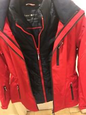 Red Tommy Hilfiger Women's 3 in 1 All Weather System Jacket. Med And Large Size.