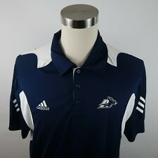 Akron Zips Roo Mens Polyester Clima Lite Scorch SS Navy White Polo Shirt Size XL