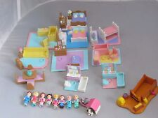 Vintage Polly Pocket Galoob My Pretty Dollhouse 23 furniture sets, doll figures