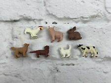 Tiny Toys Animals Soft Rubber Miniatures Lot of 7 Quarter Size