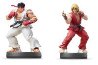 Nintendo Amiibo Street Fighter Ryu (Nintendo WiiU) & Ken (Nintendo Switch ) New