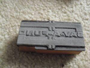 Vintage Wood Metal Letterpress Print Block Stamp Sav a Fund Logo