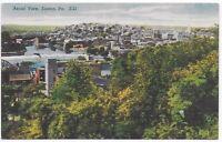Postcard Linen Vintage PA Easton Pennsylvania, Aerial View — C15