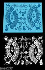 NOUVEAU !!! Grand Tapis Silicone Dentelle Décor de Neige Noel 400 x 300 x 2 mm