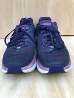Womens Hoka One One Clifton 5 Running Shoes 9  Purple Color