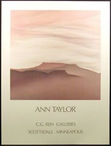 "Ann Taylor ""Leveling"" Vintage Fine Art Gallery Poster unsigned Submit Best Offer"