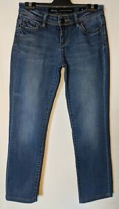 """WOMEN'S JEANS LEE RIDERS BUMSTER STRAIGHT STRETCH BLUE SIZE 8 LEG 27"""""""