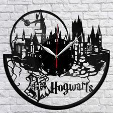 "Hogwarts Harry Potter Vinyl Record Wall Clock Fan Art Home Decor 12"" 30cm 1894"