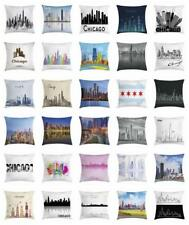 Chicago Skyline Throw Pillow Cases Cushion Covers Home Decor 8 Sizes