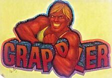 Original Vintage Grappler Iron On Transfer Wrestling