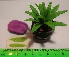 1:12 réutilisable long leaf mold b-moule maison de poupées miniature jardin accessoire