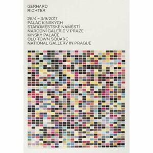 RARE! Very Big! 『Gerhard Richter』art poster of exhibition in Czech