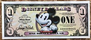 2008 Disney Dollar Mickey's 80th Birthday Uncirculated 4 digit A Series