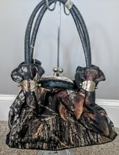Mossy Oak Camo Black Purse, Camouflage Handbag