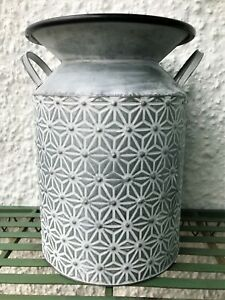 Large French Vintage Style Milk Churn Garden Planter Tub Plant Pot Container
