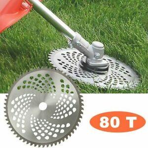 80 Teeth Grass Trimmer Weed Brush Cutter Head Steel Garden Strimmer Mower Blade