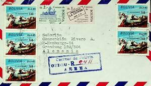 BOLIVIA 1980 7v AVIATION, EXPOSITION 1979 ON REGD AIRMAIL COVER TO GERMANY