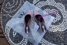 Pink Zara Mid Heel Shoes 7 40 New Mules