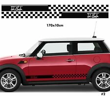 Fits Mini Cooper Side Stripes Car Stickers Decal