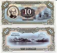 Marie Byrd Land Antarctica 10 dollars 2014 UNC Lazarev Ship Private Issue