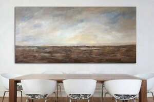 LARGE ORIGINAL ABSTRACT LANDSCAPE PAINTING ON CANVAS CONTEMPORARY WALL ART