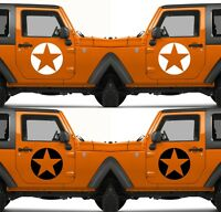 Set of 2 America US U.S. United States Army Star Vinyl Decal Sticker V11