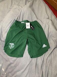NWT Men's Adidas AeroReady MLS Portland Timbers Soccer Shorts Size Medium FI2773