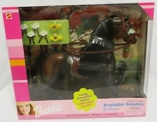 "2000 NRFB Mattel Barbie BRUSHABLE BEAUTIES ""SUNFLOWER""Horse in Sealed Box"