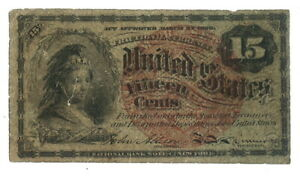 1863 - US Fifteen Cents Small Size Fractional Currency