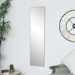 Tall Slim Wooden Rectangle Wall Mirror minimalist rustic scandi wall bathroom