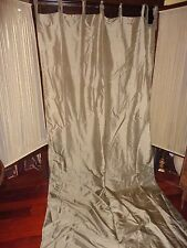 POTTERY BARN TAUPE SANDSTONE SILK TIE TOP DRAPERY CURTAIN PANEL 50 X 124