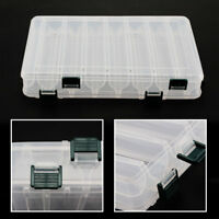 14 Compartments Fishing Fish Lure Box Tackle Two-Sided Storage Plastic Large