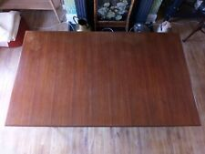 Mid Century Boat Shaped Draw Leaf Extending Dining Table with 4 Dining Chairs