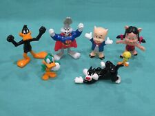 New Vintage Looney Tunes PVC Figure Lot Bugs Tweety Sylvester Porky Petunia Pig
