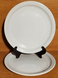 """Mainstays ARCTIC WHITE Salad plate set of 2, 8 1/8"""", Stoneware, Excellent"""