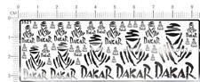 1/18 1/12 1/24 1/43 chrome(metal) decals DAKAR 3521