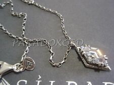 SILPADA RARE Oxidized Sterling Silver 925 Marquise Cubic Zirconia Necklace N1882