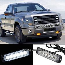 1X 6 LED White Emergency Hazard Warning Flash Strobe Beacon Caution Light Bar#00