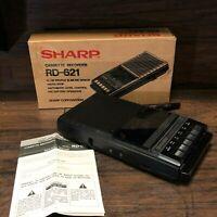 33436 NOS in Box ~ Sharp Portable Cassette Player / Tape Recorder Model RD-621